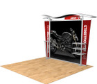 10' Timberline Hybrid Trade Show Display - Shown with Tapered Fabric Ends