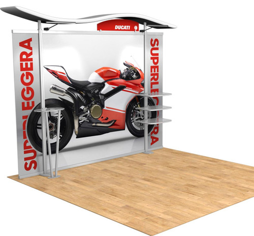 10' Timberline Hybrid Trade Show Display - Shown with Straight Ends