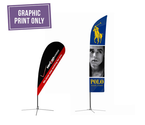 Keep the marketing message fresh on your Outdoor Flags with new graphic prints!