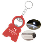 The HandyMan heavy duty keychain will hold keys securely and includes a bottle opener, bright LED light, and a 3ft measuring tape.