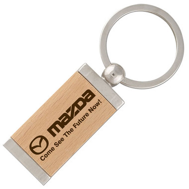 The metal key chain keeps your keys safe and secure while your lifetime laser engraved imprint will promote your company for years to come at any tradeshow or event!