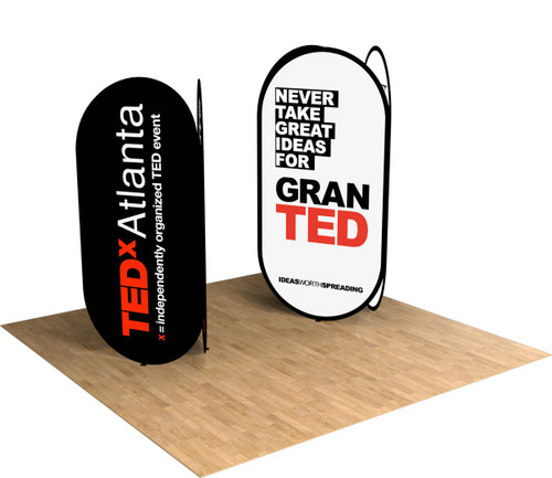 A-Frame banner stand towers are the ultra-portable solution for any event, store front, or trade shows!
