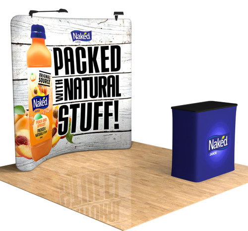 8' Tru-Fit QuickZip Trade Show Display Frame delivers a unique curved look to attract the attention of potential leads while exhibiting at your next expo