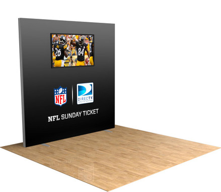 Illuminate your brand with our 8' FireFly LightBox trade show display! TV mount included!