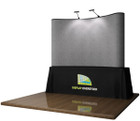 8' EZ Table Top Velcro Trade Show Display - Grey