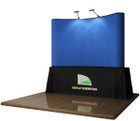 8' EZ Table Top Velcro Trade Show Display - Blue