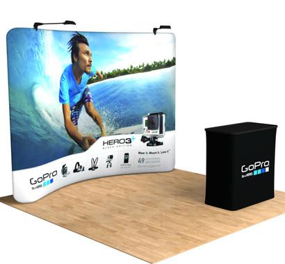 10 Tru Fit Quickzip Portable Trade Show Display