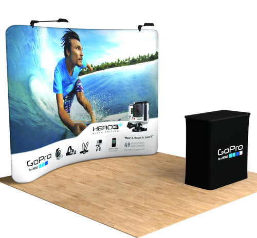 10' ft Tru-Fit - Curve - Portable Tension Fabric Trade Show Booth