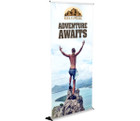 "The 48"" Silver Step Banner Stand - a staple in trade show displays!"