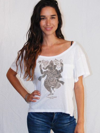 Ganesh pocket tee shirt yoga top