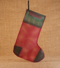 Holiday Finch Sock Red