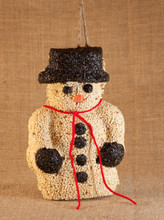 Sno-E Man Bird Seed Snowman Ornament
