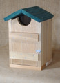 Cedar decorative screech owl house nesting box