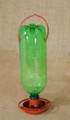Soda Bottle Bird Feeder- Shown in Terra Cotta, but this one is black.  (bottle not included)