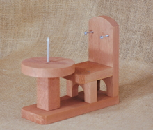 Table and Chair squirrel feeder made in the USA with Red Cedar