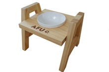 AFU Cat Food Stand With 1 Melamine Bowl- Adjustable Heights