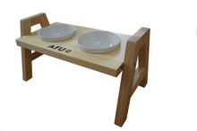 AFU Cat Food Stand With 2 Melamine Bowl- Adjustable Heights