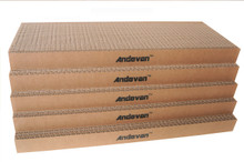 "5 pcs  Andevan Durable Corrugated Cardboard Cat Kitten Scratching  Board  16"" x 6"" x 1.18"""
