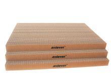 "3 pcs  Andevan Durable Corrugated Cardboard Cat Kitten Scratching  Board  18"" x 12"" x 1.18"""