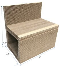 "Andevan Durable Corrugated 2 stories Cardboard   16"" x 10.5"" x 16.25"" with Couch"