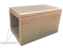 "Andevan Durable Corrugated 2 stories Cardboard   16"" x 10.5"" x 9.5"" without Couch"