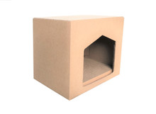 "Andevan Corrugated Cardboard Cat/ Kitten House With Scratching Pad / Board 9"" X 14.5"" X 11.5"""