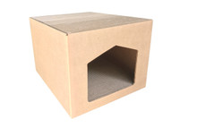 "Andevan Corrugated Cardboard Cat/ Kitten House With Scratching Pad / Board 17.50"" X 14.75"" X 12"""