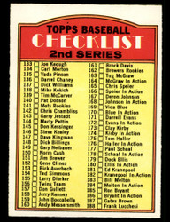 1972 CHECKLIST OPC #103 O PEE CHEE 2ND SERIES NM #4120