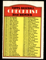 1972 CHECKLIST OPC #103 O PEE CHEE 2ND SERIES NM #4119