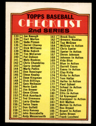 1972 CHECKLIST OPC #103 O PEE CHEE 2ND SERIES NM #4118