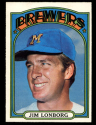 1972 JIM LONBORG OPC #255 O PEE CHEE BREWERS NM #4107