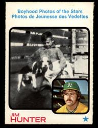 1973 JIM HUNTER OPC #344 O PEE CHEE BOYHOOD PHOTOS OF STARS NM #1190