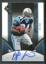 2006 DEANGELO WILLIAMS ULTIMATE COLLECTION #5/10 ROOKIE AUTO #3176