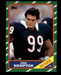 1986 DAN HAMPTON TOPPS #22 BLACK BACK ONLY VARIATION BEARS NM #3199