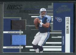 2004 STEVE MCNAIR PLAYOFF ABSOLUTE GU SHOE JERSEY #125 RELIC #4245