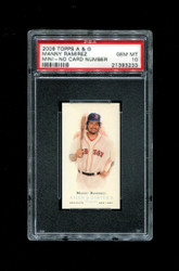 2006 MANNY RAMIREZ  ALLEN GINTER MINI NNO NO NUMBER PSA 10