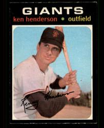 1971 KEN HENDERSON OPC #155 O PEE CHEE GIANTS NM #4270