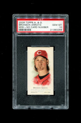 2006 BRONSON ARROYO  ALLEN GINTER MINI NNO NO NUMBER PSA 10
