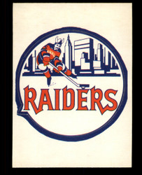 1972 NEW YORK RAIDERS OPC NHL TEAM LOGO O PEE CHEE SP  #3691