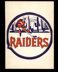 1972 NEW YORK RAIDERS OPC NHL TEAM LOGO O PEE CHEE SP VG/EX #3693