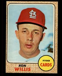 1968 RON WILLIS OPC #68 O PEE CHEE CARDINALS NM #4767