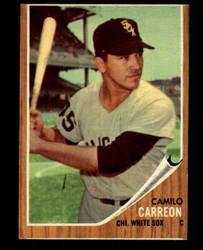 1962 CAMILO CARREON TOPPS #178 GREEN TINT WHITESOX VG/EX #4735