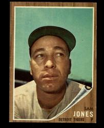 1962 SAM JONES TOPPS #92 GREEN TINT TIGERS VG #4899