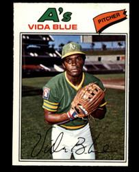 1977 VIDA BLUE OPC #75 O PEE CHEE ATHLETICS NM #4895