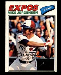 1977 MIKE JORGENSEN OPC #9 O PEE CHEE EXPOS NM #4377