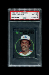 1982 ANDRE DAWSON OPC #125 O-PEE-CHEE STICKERS EXPOS PSA 8