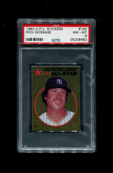 1982 RICH GOSSAGE OPC #140 STICKERS YANKEES PSA 8
