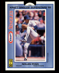 1993 NOLAN RYAN KRAFT #13 POP UP SINGLES SUPERSTARS RANGERS #4859