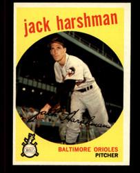 1959 JACK HARSHMAN TOPPS #475 ORIOLES EXMT #4729