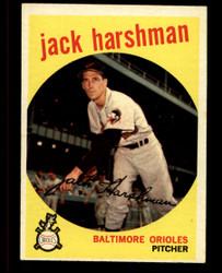 1959 JACK HARSHMAN TOPPS #475 ORIOLES EXMT #4869